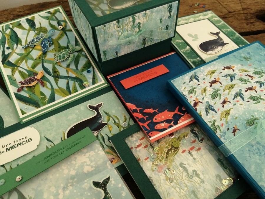 Cours de scrapbooking collection trésors d océan