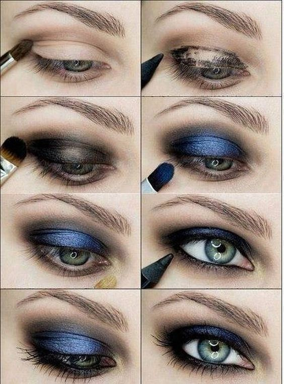 5 Step By Step Smokey Eye Makeup Tutorials(Electric blue vision)