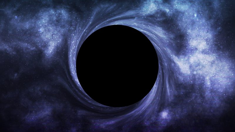 """This occurs when a """"hungry"""" black hole eats a nearby star."""