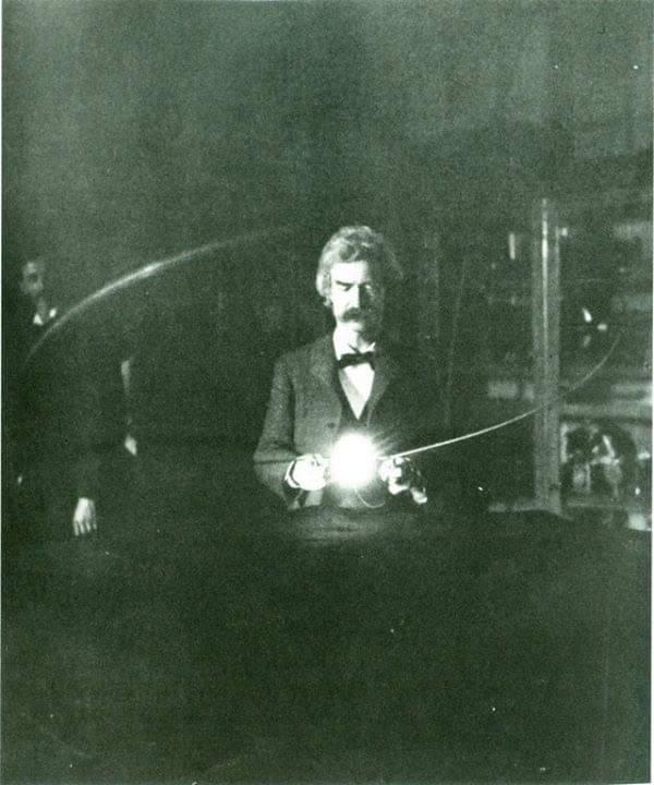 Tesla and Mark Twain
