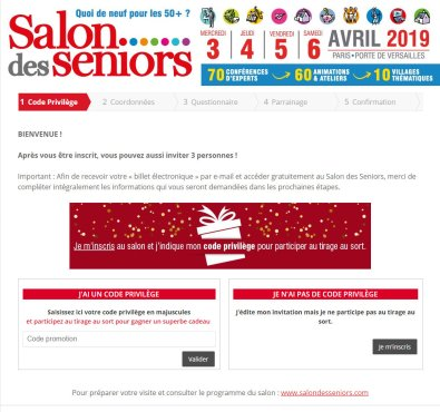 Invitation salon de seniors 2019