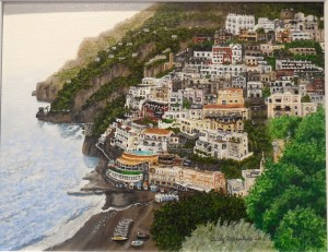 Sally Leppala joined VVAA in 2014, bring her talent for finely detailed landscapes such as this acrylic, By the Sea.