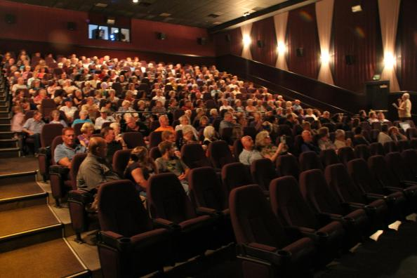 A nearly-packed theater was found Tuesday night for the Festival's presentation of My Father's Highway. Photo courtesy of Kris Zurbas.