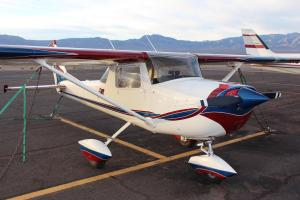 This is the Cessna 150 2-seater aircraft that Desert Views Aviation will be using to train others how to fly. Courtesy Photo.