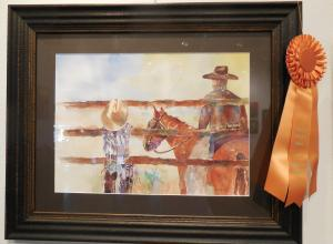 Dad, Me and Charley, by Deena Millecam, won Terra West Sponsor's Choice award.