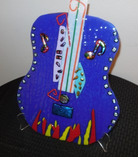Blue Guitar glasswork by Margen Fritts. Submitted photo.