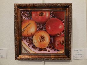 web Life-like Pomegranates, painted by Janet Weaver, earned Honorable Mention