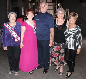 Members of the Ms. Senior Nevada Pageant were in attendance to show their support for the MSMP. From left to right are Dorothy Guralnik, Jean Watkins, Charlie Christy, Dottie Reid and Geni Barton after the gala. Photo by Jim Lavender.