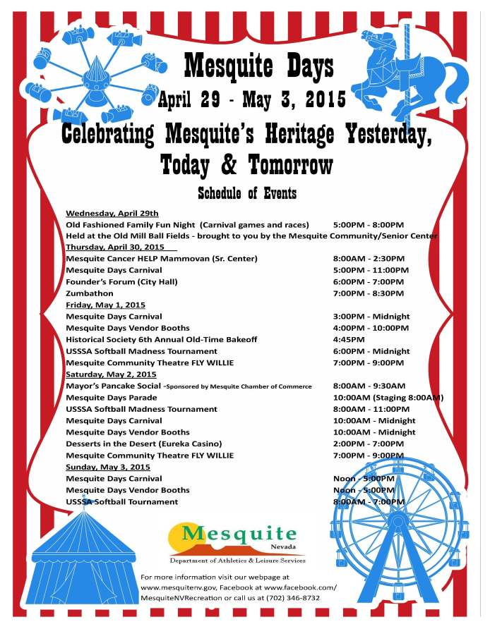 2015 Mesquite Days Poster