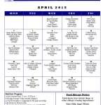 Senior Center Menu April 2015