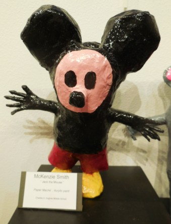 Paper mache by McKenzie Smith of Hughes Middles School welcomes visitors to the Student Art Exhibition at the Mesquite Fine Arts Gallery through May 30. Submitted photo.