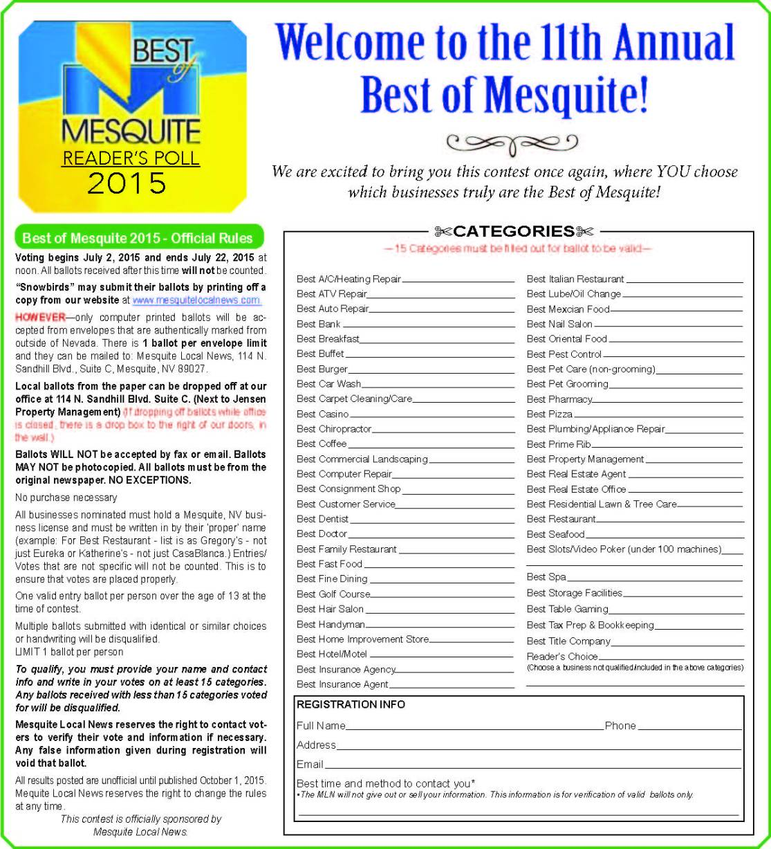 1. Best of Mesquite Rules