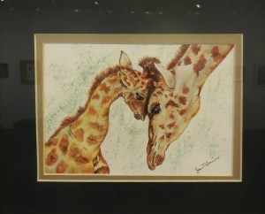 Jan Blain shows a mother's pride in her watercolor painting, Proud Mama. Submitted photo.