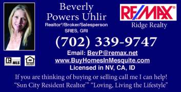 Remax Bev Uhlir  RE 2place on top or bottom-not in crease