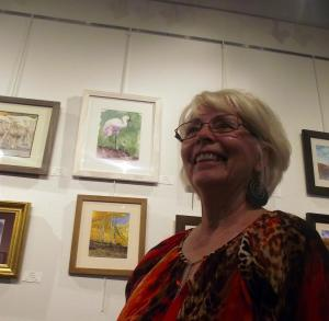 "Carol Stenger, a member of the Southern Utah Watercolor Society, displayed several painting during the Mesquite Fine Arts Invitational.  Stenger's watercolor ""Ichabod Crane"" caught the eye of several people who attended the Invitational reception which was held at the Mesquite Fine Arts Gallery on Sep. 26. Photo by Teri Nehrenz."