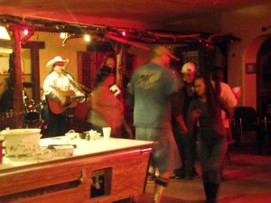 Joe Sherman provided entertainment for the lawnmower races and chili cook-off, both held at the Beaver Dam Station on Nov. 14. Sherman and his band played well into the night while patrons tore up the dance floor and had a good time at the Beaver Dam Bar. Photo Teri Nehrenz.