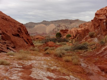 View along trail at Little Finland, NV - January 2016