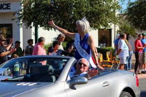 Mark Guertin has the high honor of escorting Ms. Senior Mesquite 2016, Jean Hardman, in the Veteran's Day Parade. Photo by Teri Nehrenz