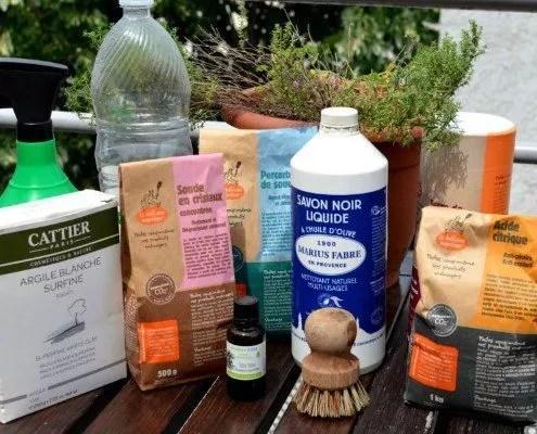 10 ingrédients indispensables pour les recettes de produits ménagers DIY