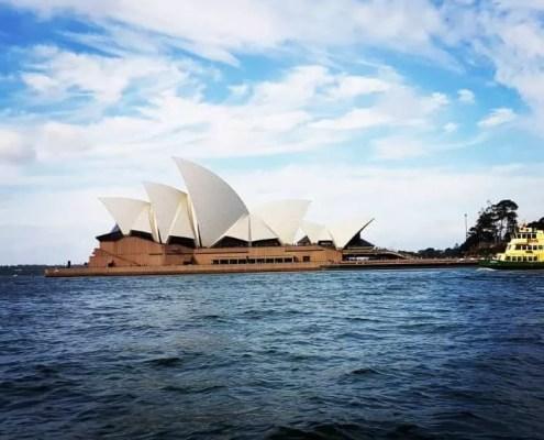 Sydney opera house from the sea