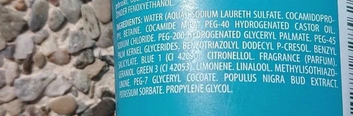 Composition du gel douche : ingrédients à éviter