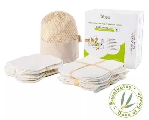 kit de lingettes réutilisables pour bébé