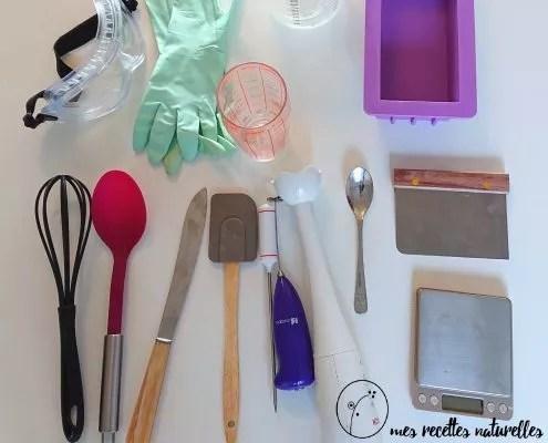 matériel pour la fabrication de savon