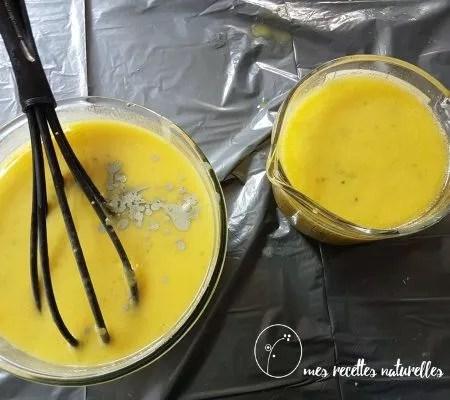 savon : ajouter ingrédients à la trace légère