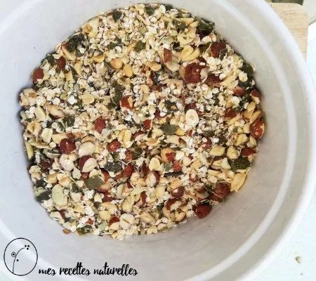 Les ingrédients du granola salé