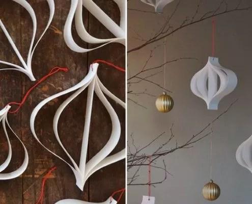 DIY : décorations de Noel en papier