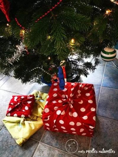 papier cadeau en tissus