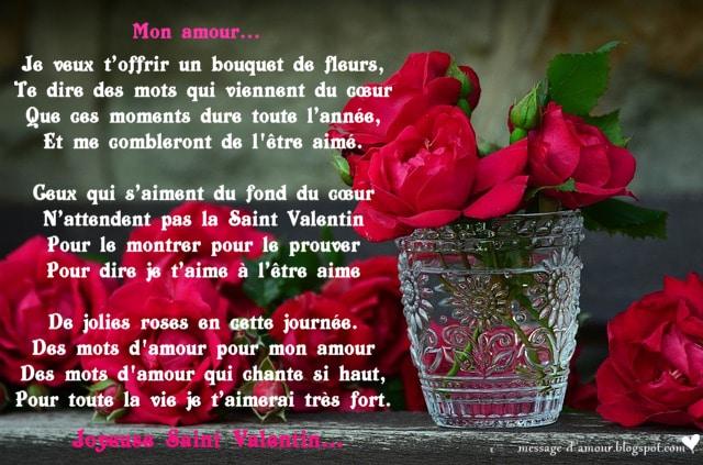 la saint valentin c est la fete a tous les amoureux alors pour cette belle journee declarez votre passion avec un poeme d amour romantique