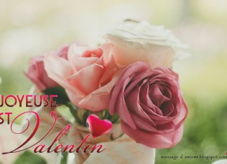 Carte Saint Valentin bouquet de fleurs