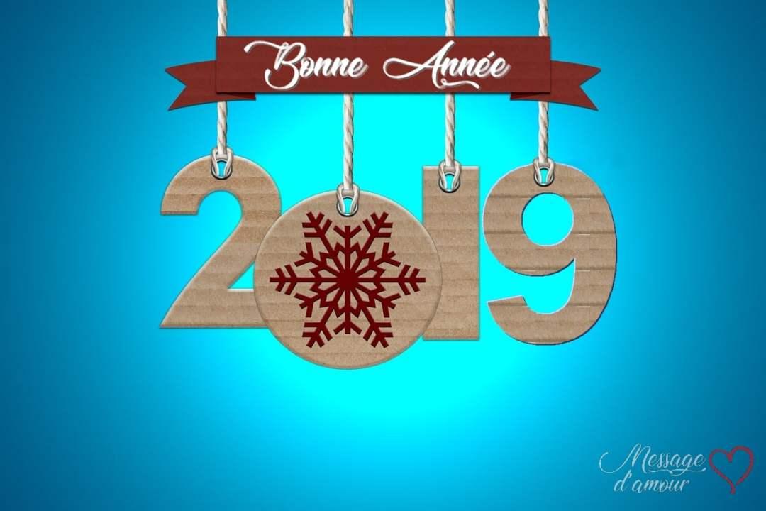 Carte bonne année 2019