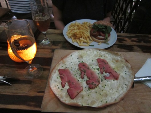 Flammkuchen in Hamburg, Germany