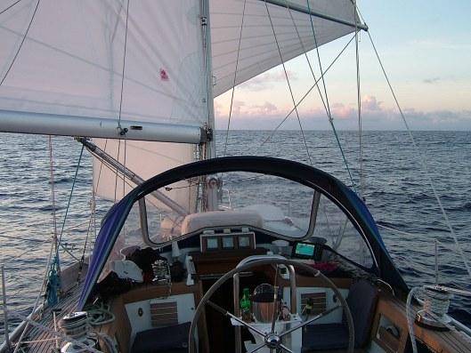 Sunset on Sara II from the Wheel.