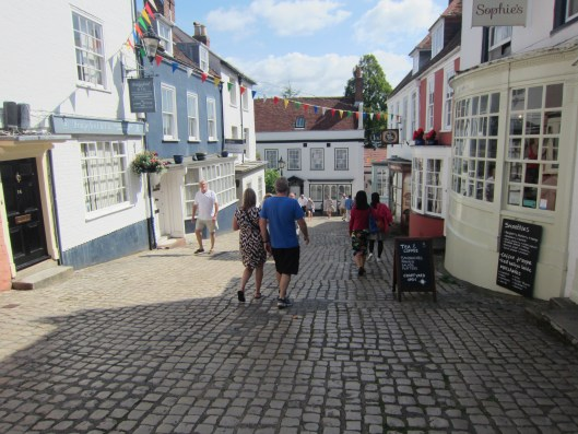 Walking down to the Lymington quay.