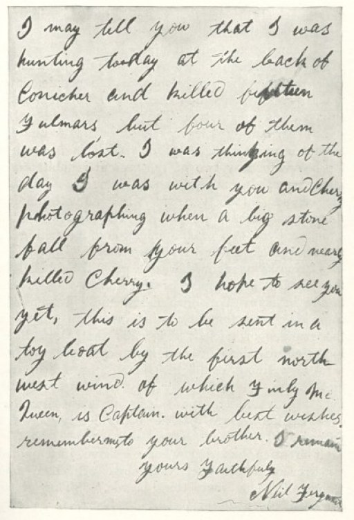 St. Kilda letter to Richard Kearton part two