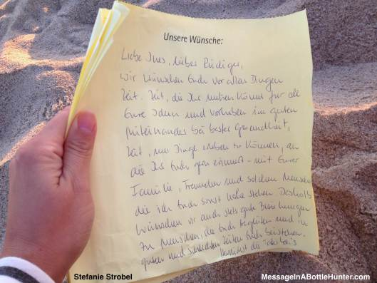 Stefanie Strobel's Message in a Bottle or Flaschenpost from Ines and Rudiger