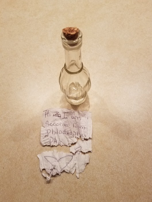 Socorra message in a bottle side one