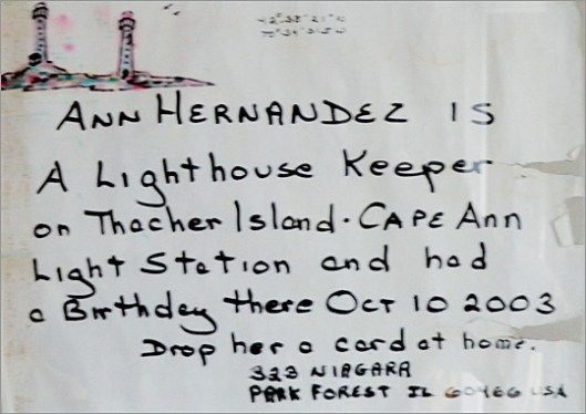 Ann Hernandez Message in a Bottle - The Lighthouse Keeper's Tale