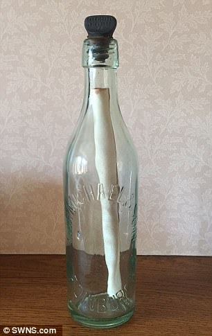 Laurence Reid 83 Year Old Message in a Bottle