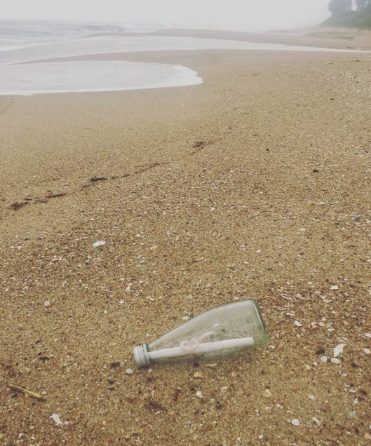 Tegan's Message in a Bottle - Karien Trengrove Found a Message in a Bottle in South Africa