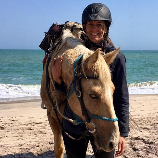 Tegan's Message in a Bottle - Karien Trengrove with her Horse, Tornado