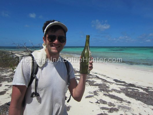 Clint with German Message in a Bottle on Beach