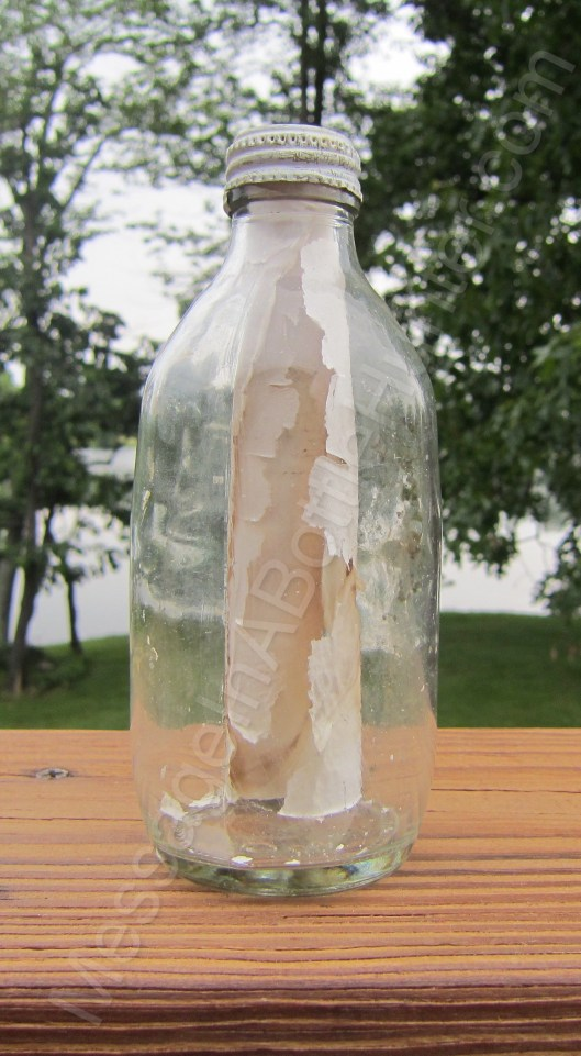 Nova Scotia message in a bottle from 1985, found by my dad.