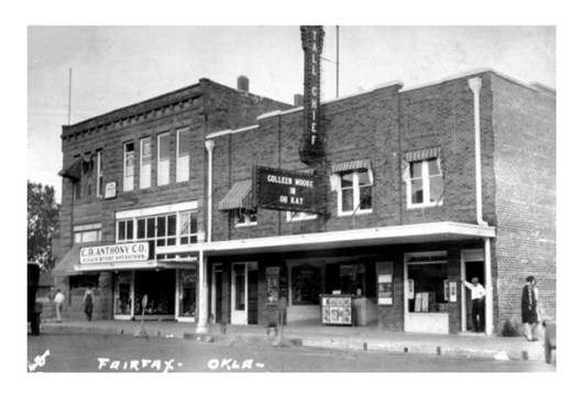 Tall Chief Theatre in Fairfax, Oklahoma. Undated. Photo: Oklahoma Historical Society.