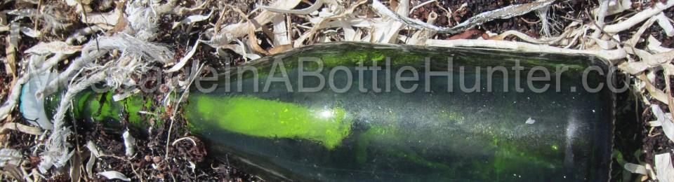 Kleenex Message in a Bottle on Beach
