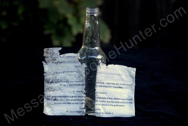 Charleston Science Project Message in a Bottle