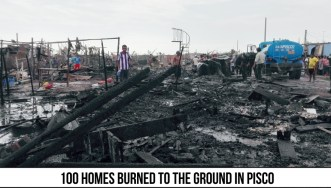 100 Homes Burn to the Ground Pisco